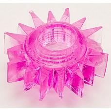 Розовое эрекционное кольцо (ToyFa 818004-3)  Эрекционное кольцо из силикона с стимулятором клитора в виде мягкой щеточки. <br>Само кольцо покрыто пупырышками для дополнительной стимуляции предвагинальной  и клиторальной зоны у женщины.