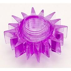 Фиолетовое эрекционное кольцо (ToyFa 818004-4)  Симпатичная  силиконовая насадка, которая поможет мужчине усилить эрекцию и продлить половой акт. За счет шишечек на поверхности, вы сможете воздействовать на клитор вашей партнерши настолько сильно, что буквально за считанные минуты ее тело пронзит яркий незабываемый оргазм. Насадка очень мягко и хорошо растягивается.