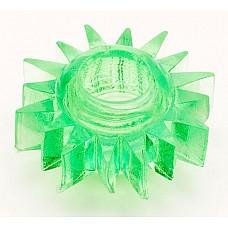 Зеленое эрекционное кольцо из гелия (Toyfa 818004-7)  Гелевое эрекционное кольцо диаметром 1 см. <br>Для дополнительной стимуляции предвагинальной зоны женщины на кольце имеются усики длиной 0,7 см.  <br>Колечко очень эластичное, хорошо растягивается, подойдет на любой Размер полового члена.  <br>Нежно стимулирует клитор и поддерживает состояние максимальной эрекции у мужчин вызывая новые неповторимые ощущения.