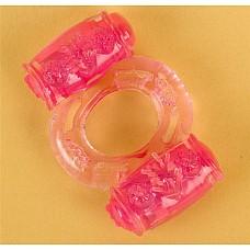 Розовое виброкольцо с двумя батарейками (ToyFa 818033-3)  Классическое вибрационное кольцо обычно имеет 1 вибростимулятор. Но это кольцо имеет 2 виброэлемента для обоих партнеров! Экстра стимуляция Вас и Вашего партнера поможет испытать вам действительно изумительный оргазм! Вибрация каждого стимулятора включается отдельно и продолжает работать до 40 минут!Батарейка сменная.