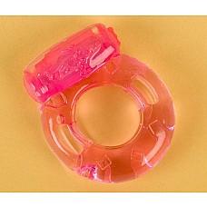 Розовое эрекционное кольцо с вибратором (ToyFa 818034-3)  Эрекционное кольцо с мощным минивибратором. <br>Батарейки в комплекте.