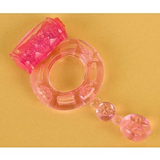 Розовое эрекционное кольцо с вибратором (ToyFa 818039-3)  Эрекционное кольцо из силикона розового цвета с вибро-стимулятором. <br>Кольцо одевается на тело полового члена для создания более сильной эрекции. <br>Диаметр кольца 4 см, может растягиваться до 10 см.