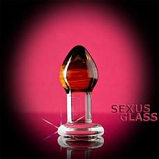 Стеклянная анальная пробка-стимулятор (Sexus-glass 912027)  Стеклянная гладкая анальная пробочка с окрашенным верхом. Изделие не просто золотого цвета, но и с перламутровым блеском.Золото всегда привлекает девушек своим  теплым оттенком.  Игрушка ручной работы с ограничительным основанием.
