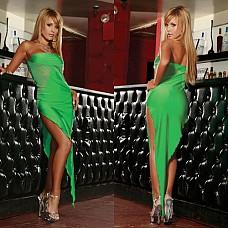 Изумрудное платье-бандо SEXY CORNER CL081-GRN  Сегодня Вы идете с ним в клуб? Или Вы идете в клуб, чтобы его там встрeтить? Отличное платье-бандо изумрудного цвета с сексуальным силуэтом.