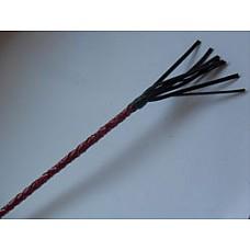 """Стек плетеный короткий 20 см, наконечник - кисточка.  Стек плетеный короткий, наконечник """"Кисточка"""" 20 см. Красный лак."""