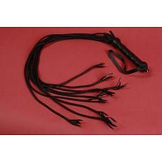 Плеть многохвостка - 9 хвостов  Плеть многохвостая. Девять плетеных хвостов, плетеная кожаная ручка. Изготовлена из натуральной кожи черно цвета. Авторская работа.