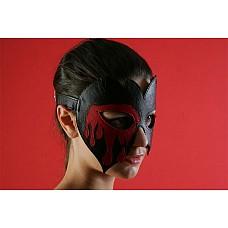 """Очки-маска """"вампир""""  Кожаная маска с оригинальным дизайном. Изготовлена из натуральной кожи. Авторская работа."""