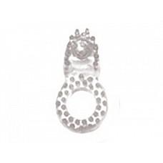 Прозрачное эрекционное кольцо со стимулятором клитора  Эрекционное кольцо имеет мягкие шипы и выступ для стимуляции клитора партнерши или мошонки мужчины.