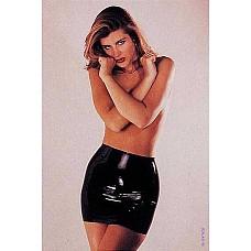 Мини-юбка Latex Mini Skirt Black  Черная мини-юбка из латекса, удобная и оригинальная, предназначенная для раскрепощенных и прекрасных.