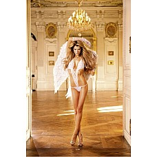 Angel Боди OS (42-46), белый  Для того, кто любит показать себя и охотно демонстрирует собственное тело, такой чудесный белый тедди станет идеальным предметом одежды.