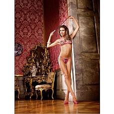 Barbie Комплект белья OS (42-46), розовый / черный  Изысканность в мельчайших деталях — этот игривый и очень привлекательный комплект бикини сводит с ума благодаря ярко-розовому кружеву и черным шнуровкам.