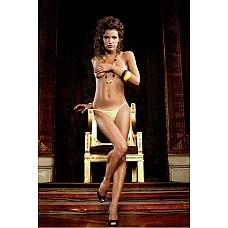 Barbie Трусики женские OS (42-46), желтый  В этих сексуальных трусиках танга модного покроя в очень мелкую сетку желтого цвета есть изюминка.
