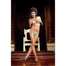 Barbie Трусики женские OS (42-46), зеленый  В этих сексуальных трусиках танга модного покроя в очень мелкую сетку зеленого цвета есть изюминка.