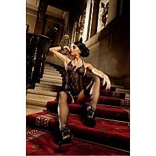 Spanish Мини-платье OS (42-46), черный  Черное платье из очень тонкой ткани в сетку и чудесного кружева, делающих его прозрачным, подойдет для самых разнообразных образов.