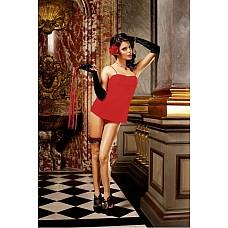 Spanish Мини-платье OS (42-46), красный  Красное коротенькое платье на тонких бретелях гарантирует романтические моменты с вашим партнером.