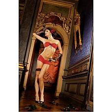 Spanish Комплект белья OS (42-46), красный  Этот комплект приведет вас в восхищение! Он состоит из очень привлекательного топа с необычным бантиком, который фиксируется на спине только с помощью двух лент, и сексуальных шортиков — оба элемента выполнены из прекрасного красного кружева.