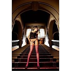 Spanish Чулки OS (42-46), розовый  Эти очаровательные чулки в сеточку нежно-розового цвета являются классическим элементом женского гардероба и подходят для любого случая — как для повседневной носки, так и для искусного соблазнения партнера.
