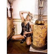 Mafia Мини-платье OS (42-46), черный  Откройте немного плечи! Комплект бебидолл с бретелью-петлей из тонкого кружева черного цвета и волнующего очень прозрачного материала — прекрасный элемент соблазнения, идеально дополненный подходящими трусиками.