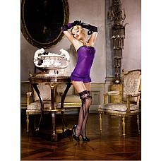 Mafia Мини-платье OS (42-46), фиолетовый  Это прекрасное маленькое платье лилового цвета с особенно соблазнительным декольте очень удобно в носке благодаря очень тонкому материалу в сеточку.