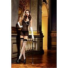 Mafia Мини-платье OS (42-46), черный  Покажите класс — захватывающее дух маленькое платье с бретелью-петлей черного цвета подкупает благодаря прекрасным кружевным деталям на передней стороне и груди.