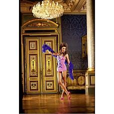 NeonBarock Мини-платье OS (42-46), неоновый розовый  Это дерзкое и возбуждающее маленькое платье розового цвета, имеющее минималистичный крой, является настоящей приманкой — изящные и контрастные рюши синего цвета украшают платье по краю и по передней стороне, создавая неповторимый вид.