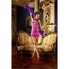 NeonBarock Мини-платье OS (42-46), розовый  Это прекрасное маленькое платье ярко-розового цвета с особенно соблазнительным декольте очень удобно в носке благодаря очень тонкому материалу в сеточку.