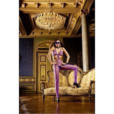 NeonBarock Чулок на тело OS (42-46), фиолетовый  Благодаря необычному дизайну этот лиловый боди-комбинезон в сеточку произведет хорошее впечатление на любого.