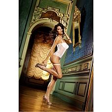 NeonBarock Чулки OS (42-46), белый  Эти сдержанные элегантные чулки с белым рисунком идеально подойдут для повседневной носки и интимных моментов.