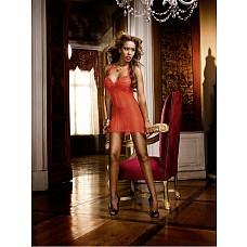 Devil Мини-платье OS (42-46), красный  Покажите класс — захватывающее дух маленькое платье с бретелью-петлей красного цвета подкупает благодаря прекрасным кружевным деталям на передней стороне и груди.
