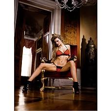 Devil Комплект белья OS (42-46), красный / черный  Этот комплект бикини, выполненный в красном и черном цвете, превосходен сам по себе, поэтому вы можете быть уверены, что всегда будете в центре внимания.