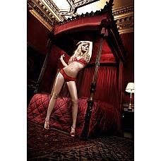 Have Fun Princess Комплект красный бикини из кружевного Бюстгальтера с завязками за шеей и  Boyshort  Укутайте Ваше тело в  роскошное кружево и благородную тюлевую ткань.