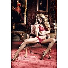 Have Fun Princess Комплект бордовый бикини из Бюстгальтера и трусиков в горошек; ML  Прекрасно оформленный комплект бикини в пламенном бордовом цвете с чувственной прозрачностью и игривым узором в горошек  - это стильный комплимент Вашей женственность.