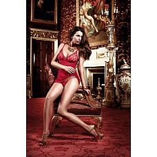 Have Fun Princess Платьице бордовое из тюлевой ткани с бюстье в горошек и стрингами  Игриво и сексуально предстает это бордовое прозрачное платьице, которое притягивает чувственные взгляды.