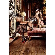 Dolce Vita Чулки черные с волнистой структурой и узорами из бантиковOS (42-46)  Экстравагантный дизайн черных чулков притягивает чувственные взгляды.