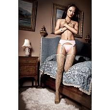 Dolce Vita G-Стринги розовая подвязка для чулков ; SM  В игривом дизайне предстает открытый комплект из розовой подвязки для чулков  и стрингов .