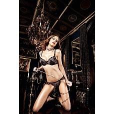Deeper in Hell Стринги черные с серебристым орнаментом ML  Почувствуйте таинственный шепот романтики на вашем теле.