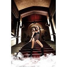 Deeper in Hell Боди-Стринги черные из тюлевой ткани в горошек с мягкими чашечками и косточками; ML  Вдохновленный таинственной романтикой и чувственной роскошью дизайн Body-стрингов лестно окружит Ваше тело.