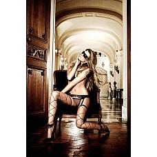Deeper in Hell Чулки черные в крупную сеточкуOS (42-46)  Роскошный выход гарантирован Вам с черными чулками из  крупной сеточки, которая опутывает Ваши ноги как украшение из веревок.