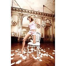 Back in Heaven Комплект розовый из сатиновой маечки с шортиками; ML  С игриво-кокетливой женственностью предстает  этот розовый комплект из нежной маечки и симпатичных шортиков, который укутает Ваше тело легкостью и тонкостью.