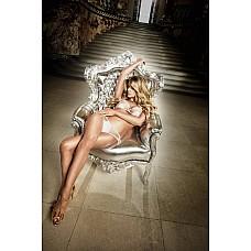 Back in Heaven Комплект бикини белый  из тюлевой ткани в точечку и матовыми аппликациями  Соблазнительная прозрачность исходит от этого нежного белого  комплекта из бюстгальтера и сексуальных стринг.