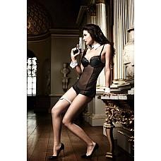 Agent Of Love Платьице черное из тюлевой ткани с косточками  Нежное платьице в черном, прозрачном образе умеет выманивать все тайны.