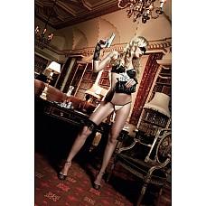 Agent Of Love Комплект бикини светло-бежевый  с черными кружевными элементами и косточками; SM  Роскошно и чувственно этот комплект бикини подкупает прелестным дизайном.