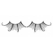 Ресницы чёрные  перья  Восхитительные частично подкрученные веерообразные ресницы из мягких высококачественных перьев ручной обработки черного цвета.