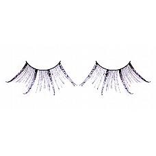 Ресницы чёрные-фиолетовые  перья  Ослепительные ресницы из мягких высококачественных перьев ручной обработки, выполненные в черном и лиловом цветах, веерообразные.