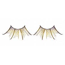 Ресницы коричнево-золотые  перья  Ослепительные веерообразные ресницы из мягких высококачественных перьев ручной обработки коричневого и золотистого цветов.