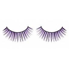 Ресницы чёрно-фиолетовые  Веерообразные ресницы ручной работы с длинными и более короткими ресничками черного и лилового цветов.
