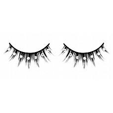 Ресницы чёрные с серебряными  стразами  Густые черные ресницы ручной работы различной длины с белыми кристаллами.