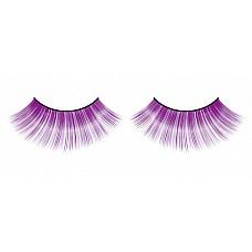 Ресницы фиолетовые  Очаровательные веерообразные длинные и яркие ресницы ручной работы лилового цвета с необычным блеском.