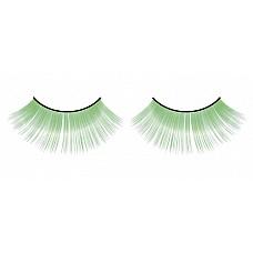 Ресницы зелёные длинные  Очаровательные веерообразные длинные и дерзкие ресницы ручной работы светло-зеленого цвета с необычным блеском.