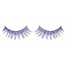 Ресницы синие с серебряными  стразами  Обворожительные синие ресницы ручной работы различной длины с белыми кристаллами.